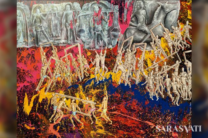 gateway, lukisan citra yuga, pameran citra yuga, lukisan kun adnyana