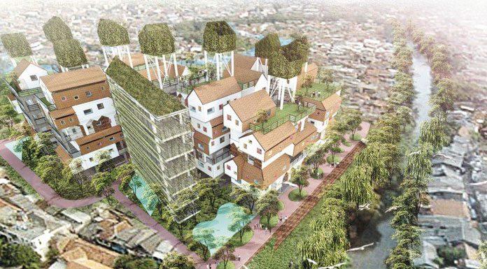 Gambar-gambar impresi kampung vertikal untuk kasus Kampung Pulo