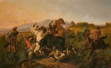 Raden Saleh, Perburuan Banteng, 1855