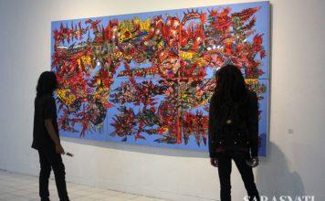 """Ada 11 karya yang ditampilkan Anton Afganial dalam pameran tunggal perdananya di Bentara Budaya Yogyakarta bertajuk """"The World Around Me"""" (5 – 13 Desember 2017) (Foto: Riski Januar)"""