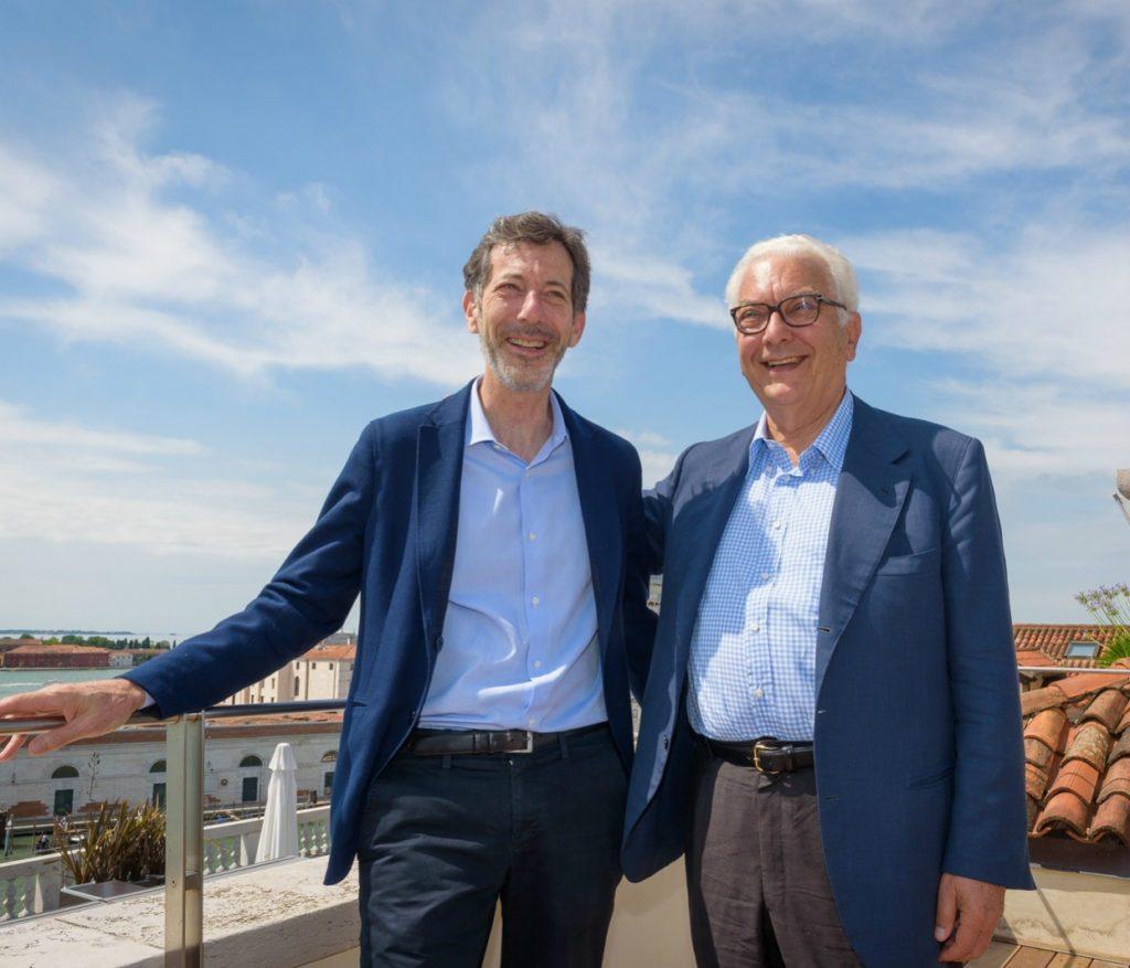Ralph Rugoff, kurator Venice Biennale 58 (kiri) dan Paolo Baratta, Direktur Venice Biennale (kanan) (sumber: Venice Biennale/ La Biennale di Venezia)