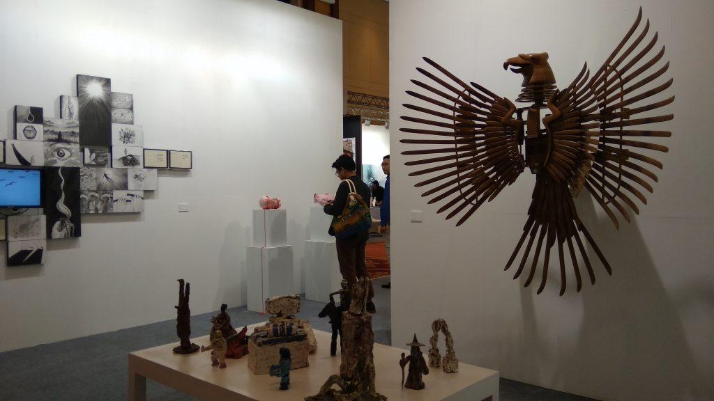 Booth BEKRAF yang diberi tajuk 'Art Unlimited'