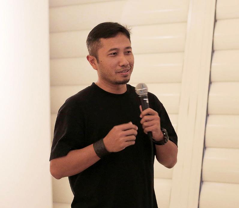 Joko Avianto, seniman yang berkarya dengan medium bambu (doc. Joko Avianto)