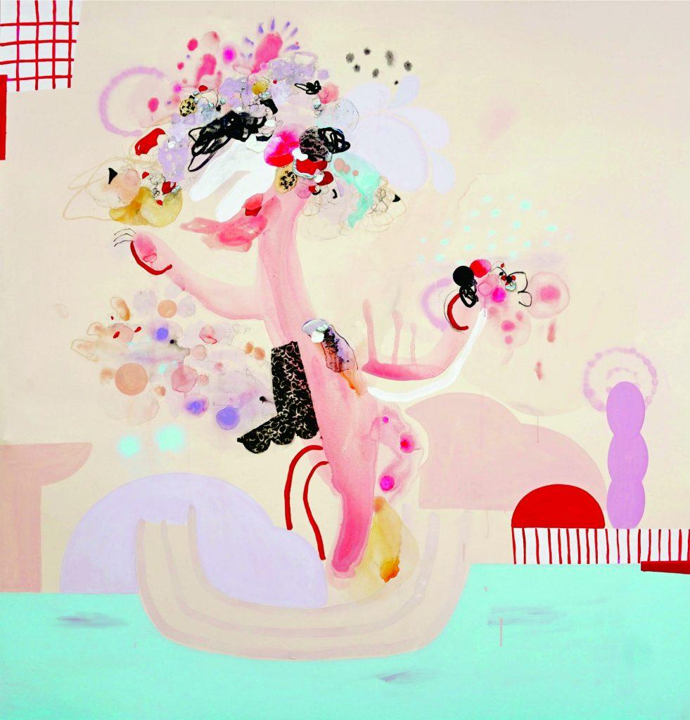 Karya Ayu Arista Murti, I'm Watering My Self, 200 cm x 190 cm, 2018. (Doc. Ayu Arista Murti)