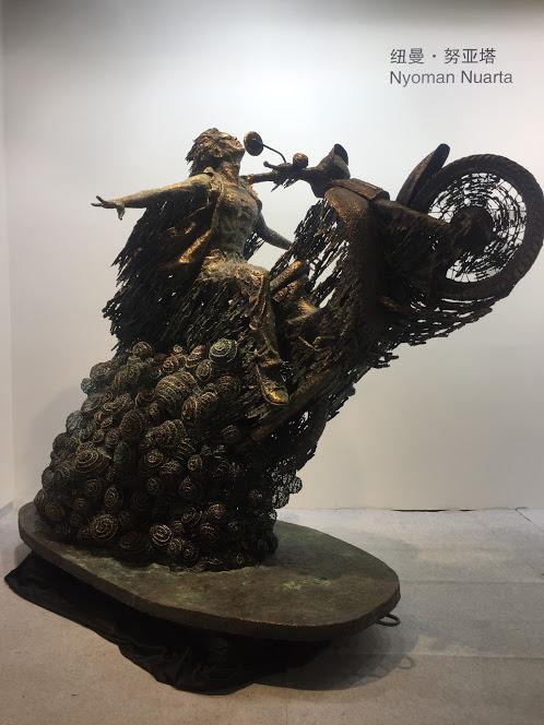Salah satu karya Nyoman Nuarta di Art Jakarta 2019